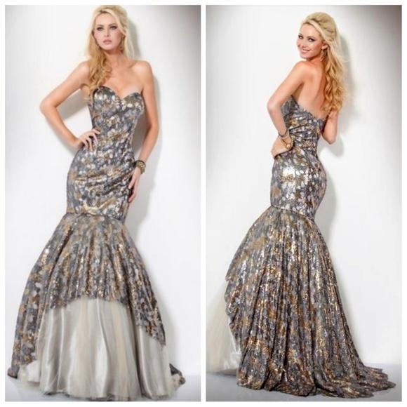 Jovani Dresses & Skirts - Jovani Prom Strapless Mermaid  Prom Gown